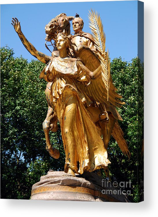 Statue Acrylic Print featuring the photograph Sherman In Central Park by Anne Ferguson