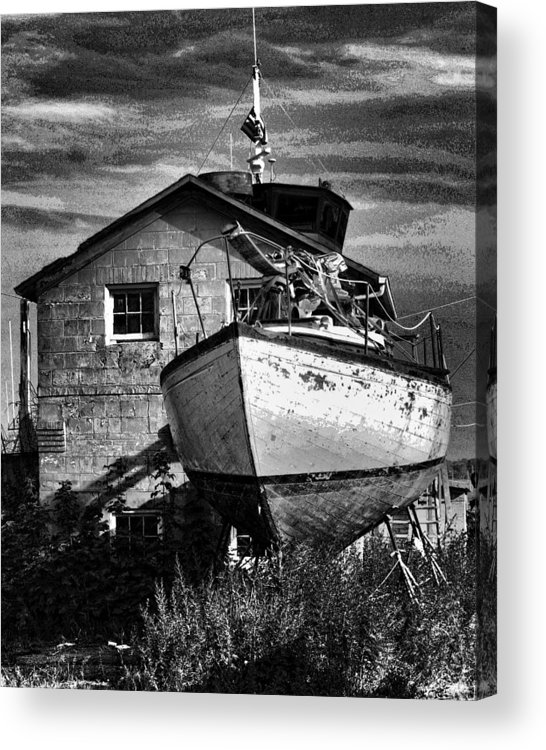New York Acrylic Print featuring the photograph Shore Leave by Joel Lau