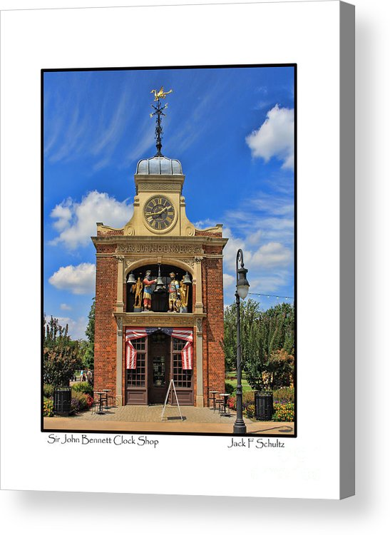 Sir John Bennett Acrylic Print featuring the photograph Sir John Bennett Clock Shop by Jack Schultz