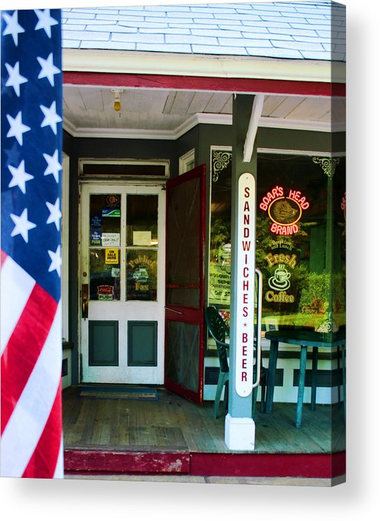 New York Acrylic Print featuring the photograph Small Town Patriotism by Joel Lau