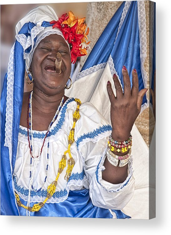 Cigar Acrylic Print featuring the photograph Smile With A Cigar by Beverly Hanson