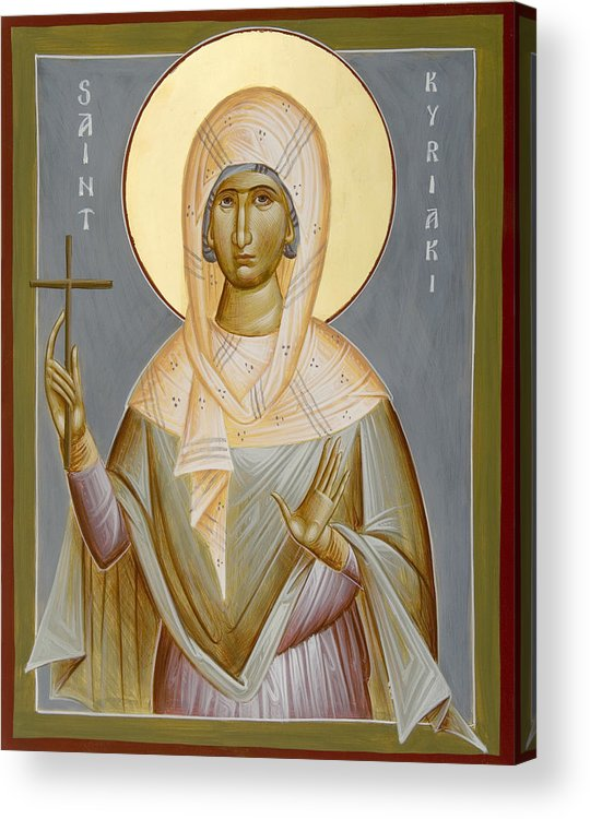 St Kyriaki Acrylic Print featuring the painting St Kyriaki by Julia Bridget Hayes