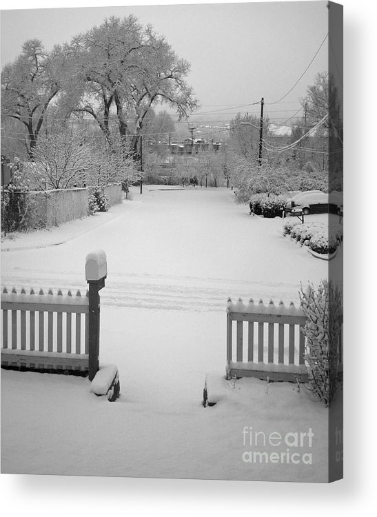 Colorado Acrylic Print featuring the photograph The Cold Road by Jack Norton
