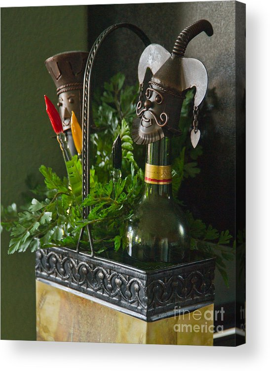Bottle Acrylic Print featuring the photograph The Cork Jester by Michael Flood