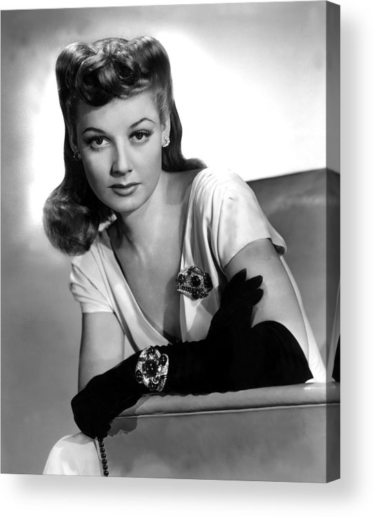 1940s Portraits Acrylic Print featuring the photograph The Man Who Came To Dinner, Ann by Everett