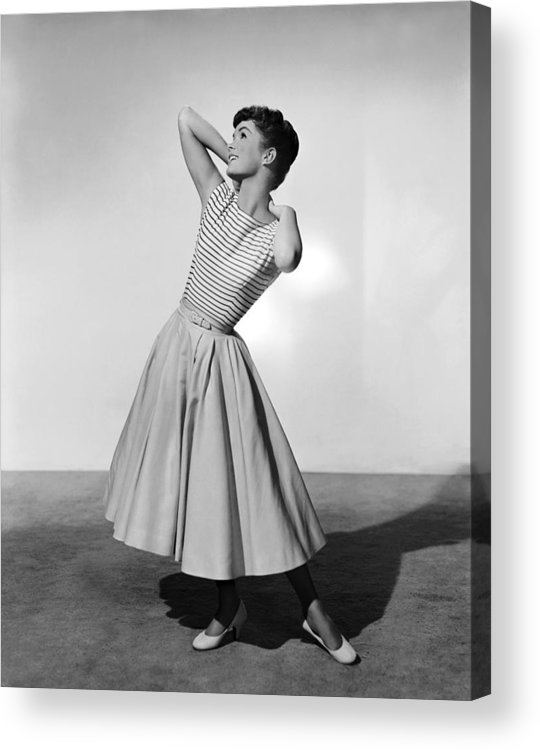 1950s Portraits Acrylic Print featuring the photograph The Tender Trap, Debbie Reynolds, 1955 by Everett
