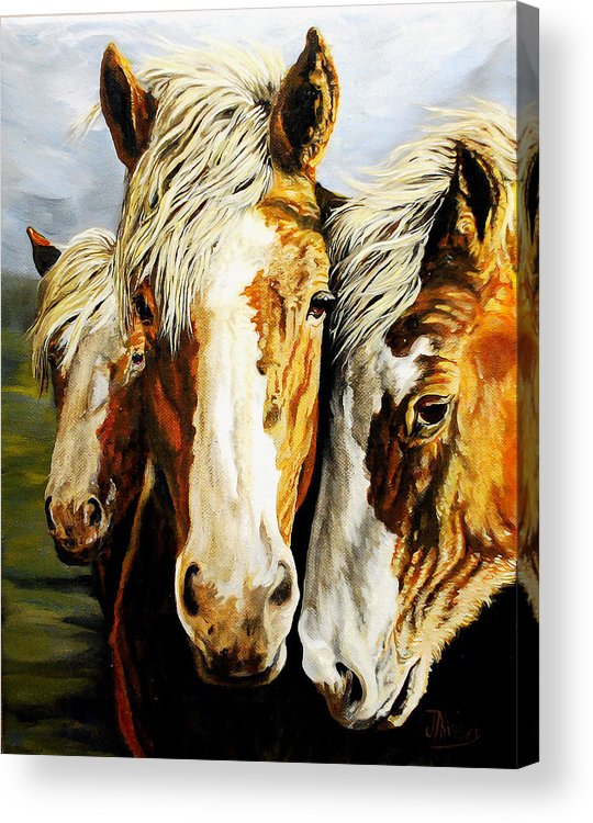 Acrylic Print featuring the painting Three Amigos by Mike Kinsey