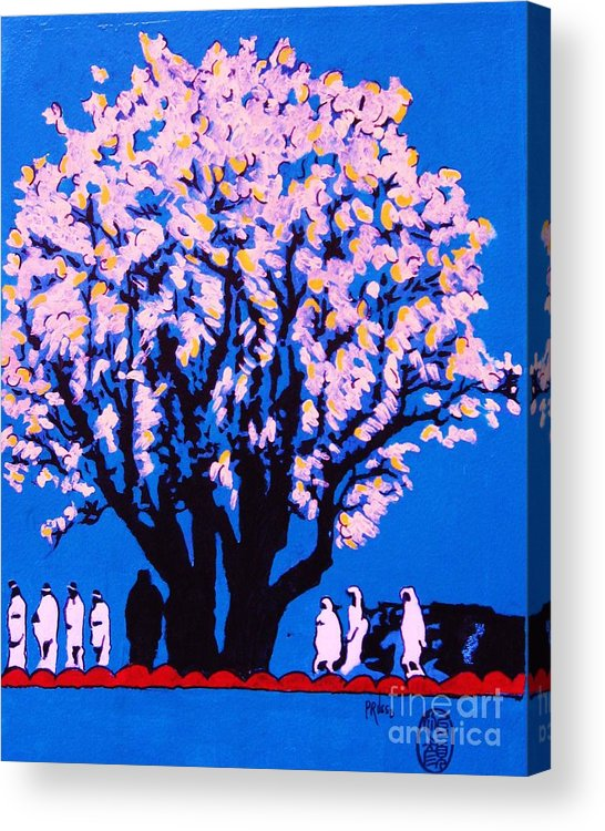Figurative Acrylic Print featuring the painting Under The Yum Yum Tree by Roberto Prusso