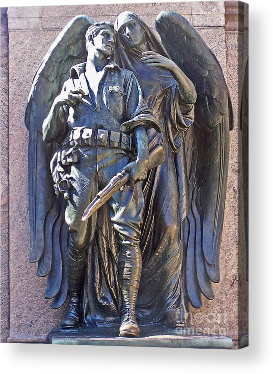 Monument Acrylic Print featuring the photograph War Memorial-prospect Park by Anne Ferguson