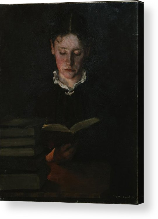 Ovr395274 Acrylic Print featuring the photograph Woman Reading by Signe Scheel