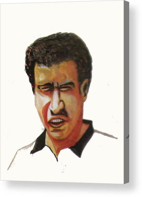 Sports Acrylic Print featuring the painting Younes El Aynaoui by Emmanuel Baliyanga