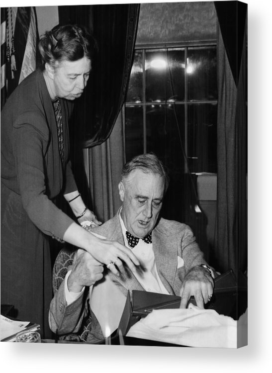 1940s Acrylic Print featuring the photograph Fdr Presidency. First Lady Eleanor by Everett