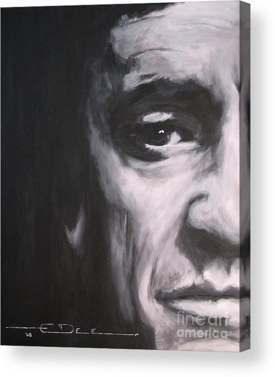 Johnny Cash Acrylic Print featuring the painting Johnny Cash 2 by Eric Dee