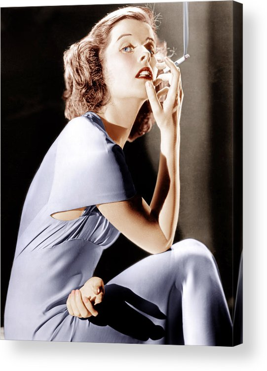 1930s Portraits Acrylic Print featuring the photograph Katharine Hepburn, Ca. 1930s by Everett