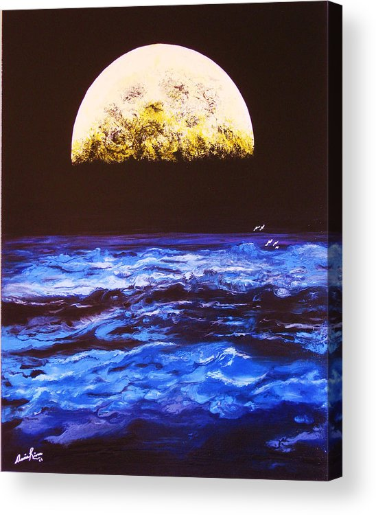 Contemporain Sea Acrylic Print featuring the painting Le Voyage by Annie Rioux