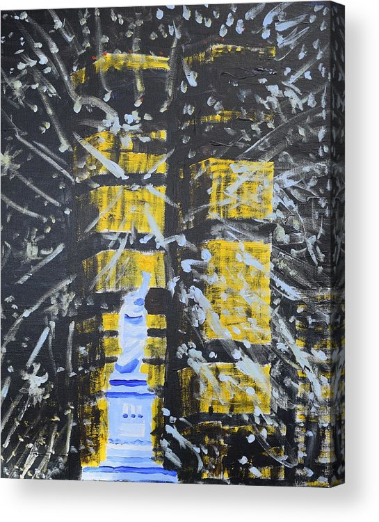 I Wanted To Capture The Twin Towers Before All Hell Was Set Lose On Them That One Awful Day Will Never Forget. Acrylic Print featuring the painting Let Us Not Forget by Aj Watson