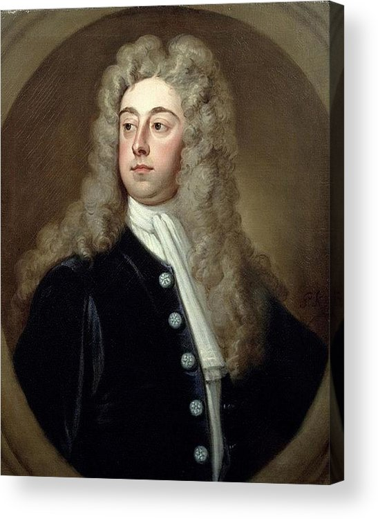 Wig Acrylic Print featuring the digital art Portrait Of Francis 2nd Earl Of Godolphin 1678-1766 Sir Godfrey Kneller by Eloisa Mannion