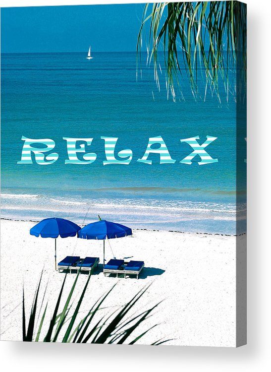 Relax Acrylic Print featuring the photograph Relax by Stephen Warren