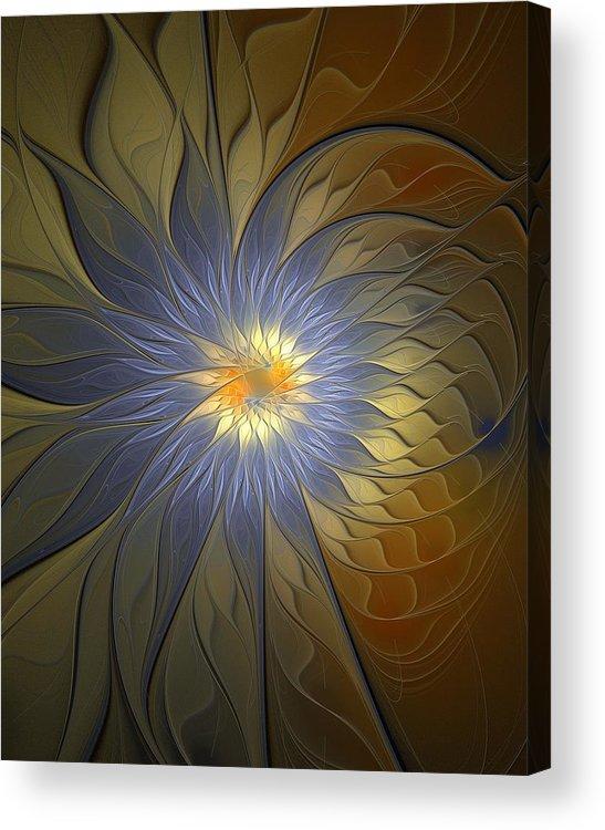 Digital Art Acrylic Print featuring the digital art Something Blue by Amanda Moore