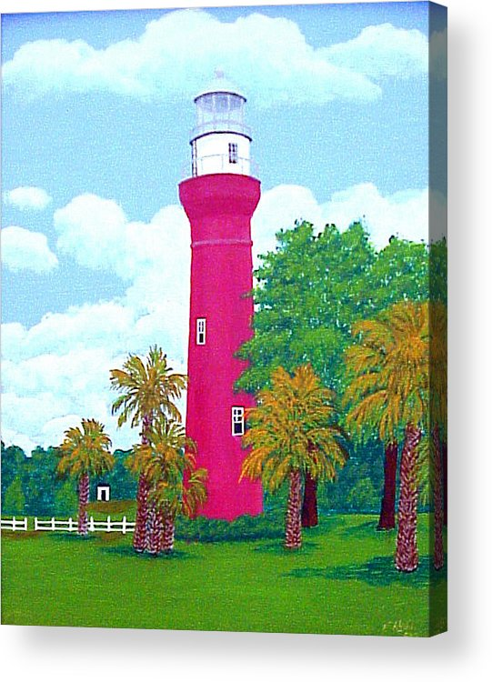 Lighthouses Acrylic Print featuring the St Johns River Lighthouse by Frederic Kohli