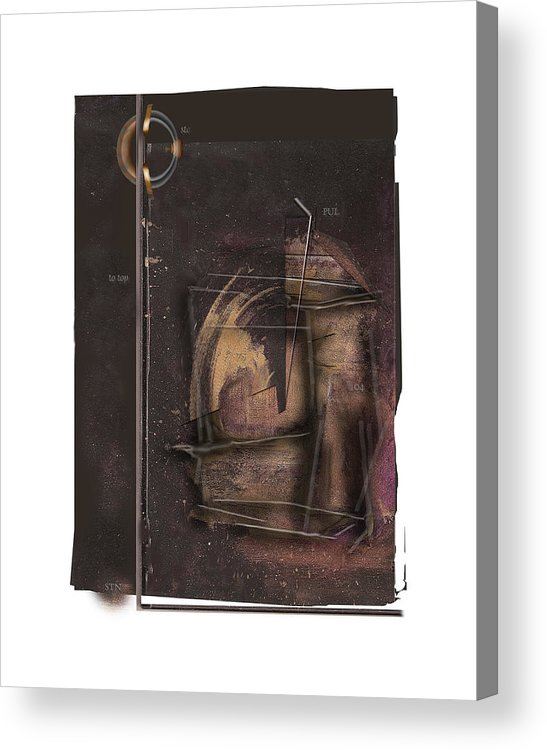 Still Life Acrylic Print featuring the digital art STN by Nuff