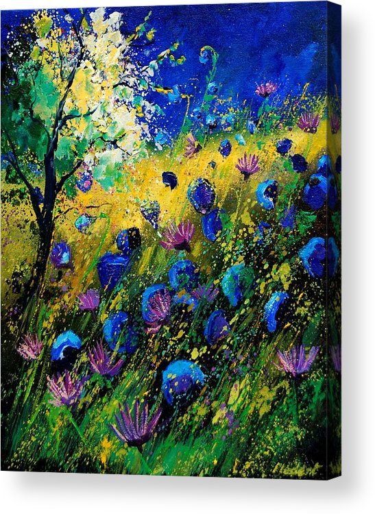 Poppies Acrylic Print featuring the painting Summer 450208 by Pol Ledent