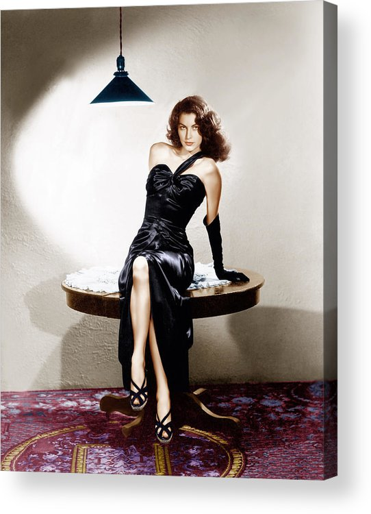 1940s Portraits Acrylic Print featuring the photograph The Killers, Ava Gardner, 1946 by Everett