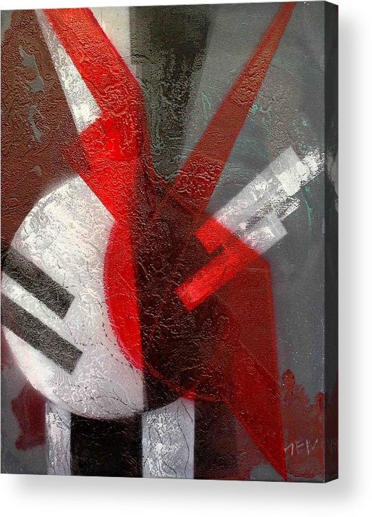 Abstract Acrylic Print featuring the painting 2 Abstract Vases by Evguenia Men