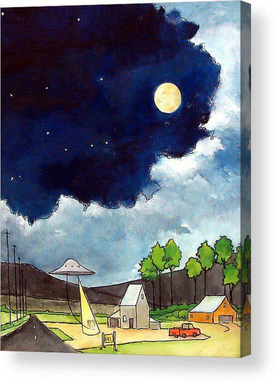 Ufo's Acrylic Print featuring the painting Gas Stop by James Smith
