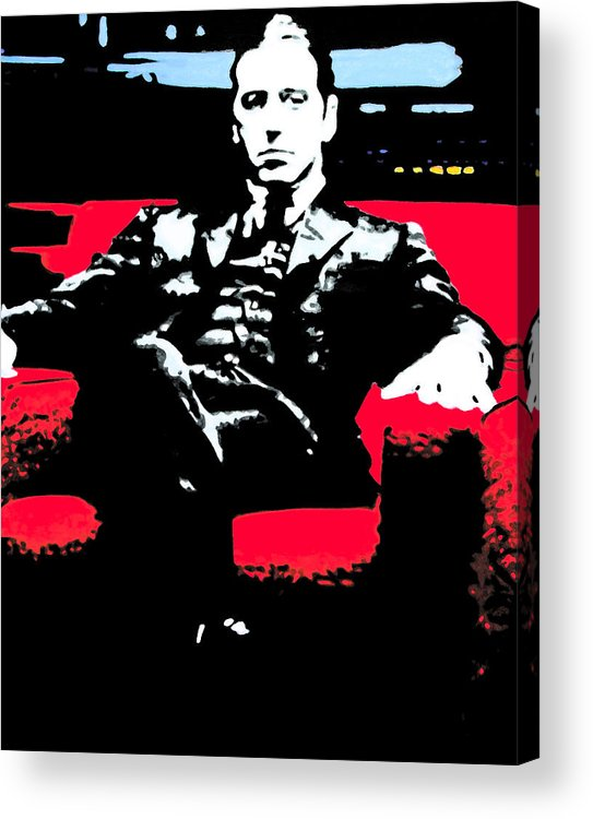 Ludzska Acrylic Print featuring the painting The Godfather by Luis Ludzska