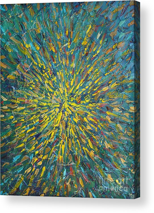 Abstract Acrylic Print featuring the painting Untitled by Dean Triolo