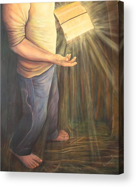 Contemporary Acrylic Print featuring the painting A Lamp Unto My Feet by Renee Dumont Museum Quality Oil Paintings Dumont