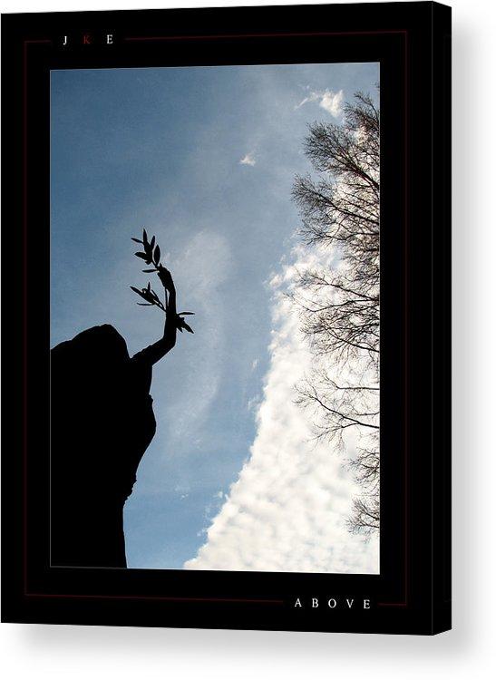 Angel Acrylic Print featuring the photograph Above by Jonathan Ellis Keys