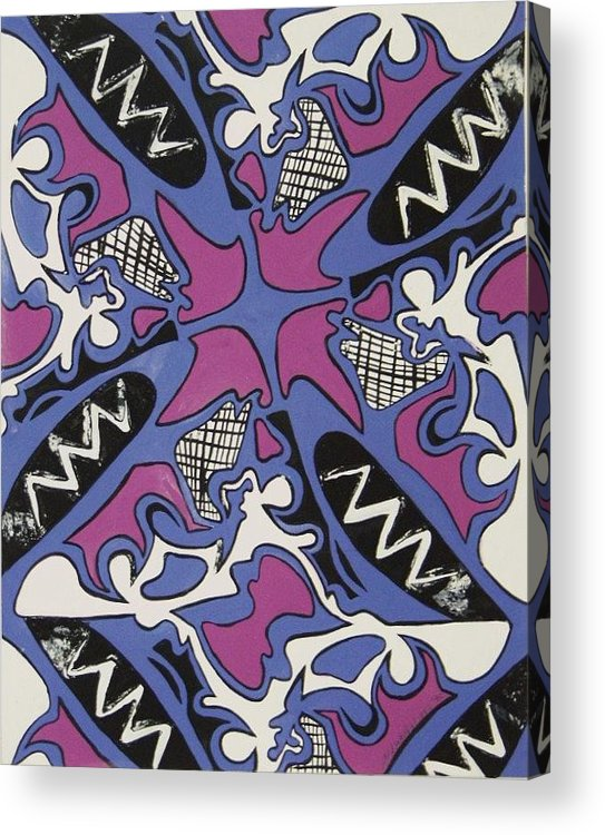 Pattern Acrylic Print featuring the painting Abstract Pattern by Jamey Balester