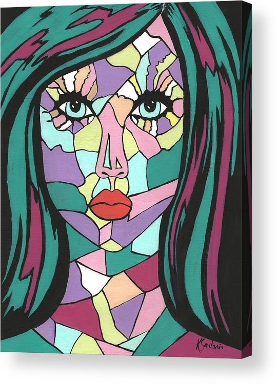 Contemporary Woman Painting Acrylic Print featuring the painting Adara by Kathleen Sartoris