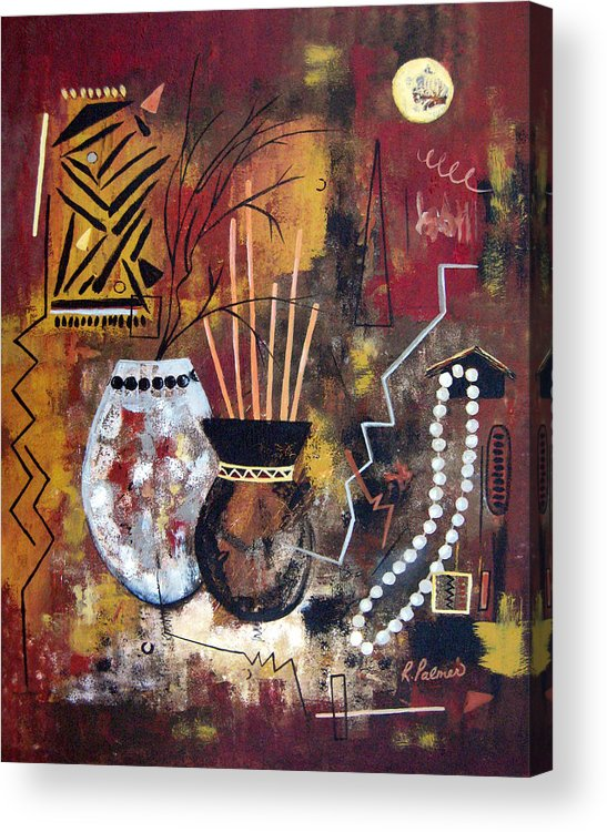 Abstract Acrylic Print featuring the painting African Perspective by Ruth Palmer