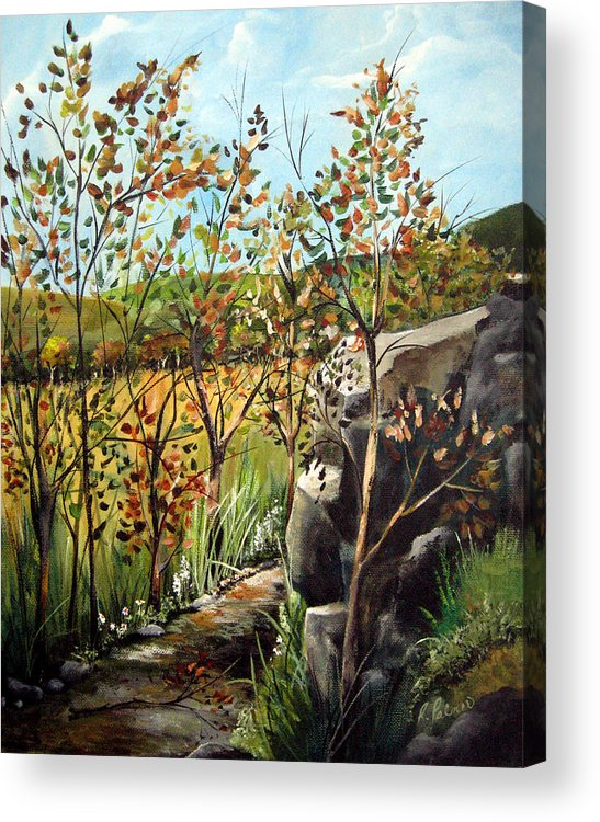 Acrylic Print featuring the painting Afternoon Stroll by Ruth Palmer
