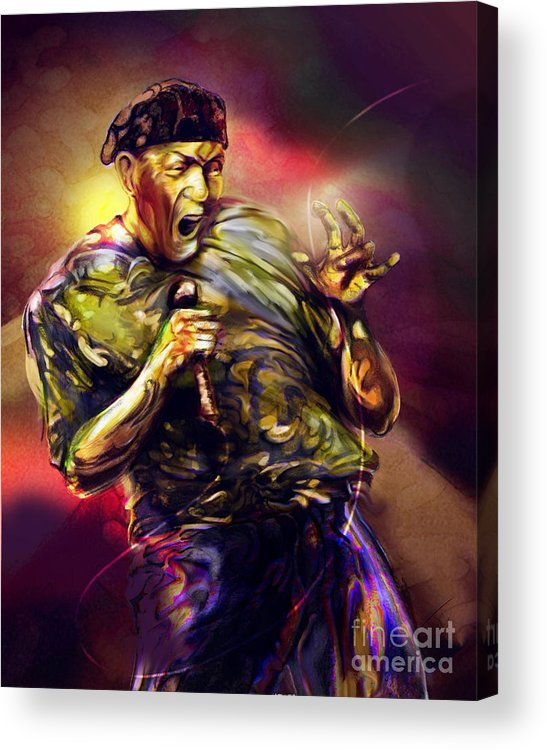 Jazz Art Acrylic Print featuring the painting Al Jarreau by Mike Massengale