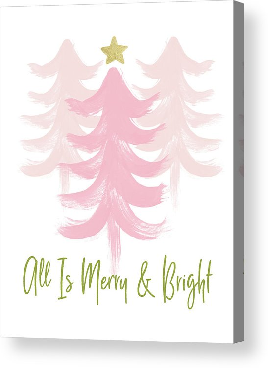 Merry And Bright Acrylic Print featuring the mixed media All Is Merry And Bright- Art By Linda Woods by Linda Woods