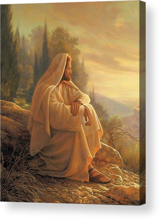 Alpha Acrylic Print featuring the painting Alpha And Omega by Greg Olsen