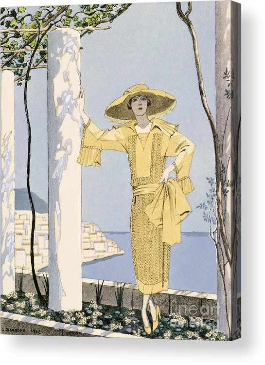 Acrylic Print featuring the painting Amalfi by Georges Barbier