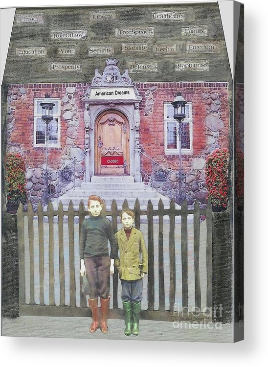 American Dream Acrylic Print featuring the mixed media American Dreams by Desiree Paquette