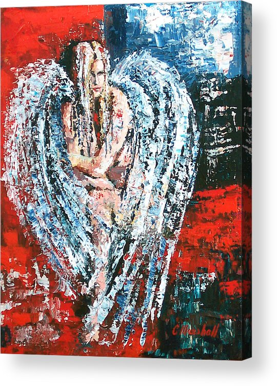 Art Acrylic Print featuring the painting Angel In The Light by Claude Marshall