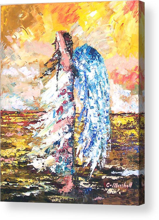 Art Acrylic Print featuring the painting Angel In The Wind by Claude Marshall