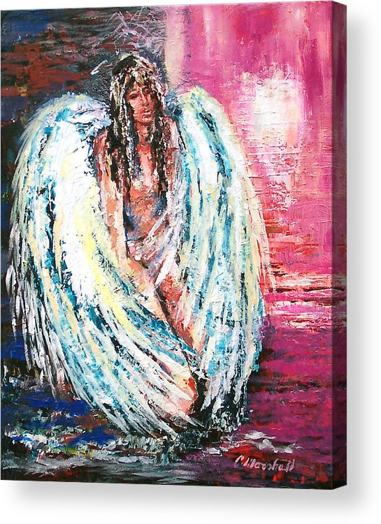 Art Acrylic Print featuring the print Angel Of Dreams by Claude Marshall