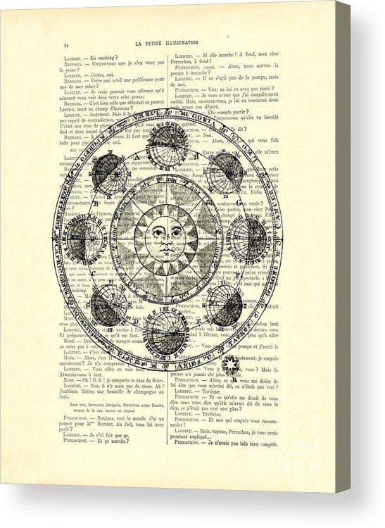 Astrology Chart Solar System Acrylic Print By Madame Memento