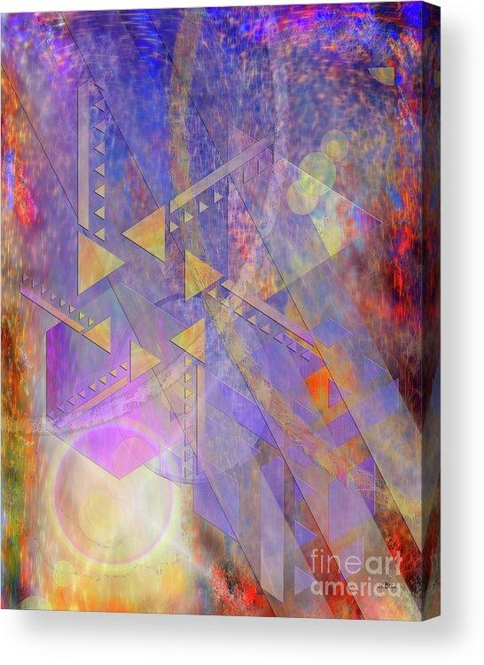 Aurora Aperture Acrylic Print featuring the digital art Aurora Aperture by John Beck