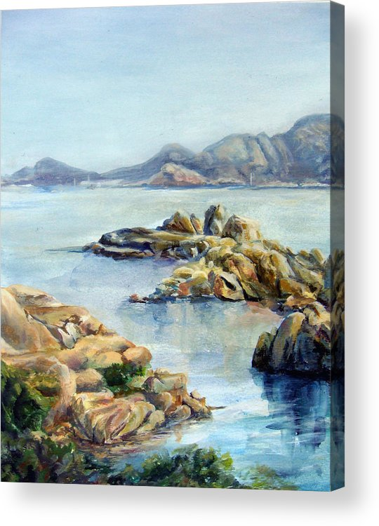 Landscape Acrylic Print featuring the painting Baie by Muriel Dolemieux