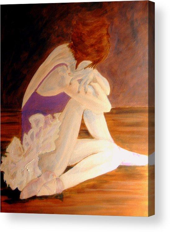 Ballerina Acrylic Print featuring the painting Ballerina04 - Acrylic by Donna Hanna