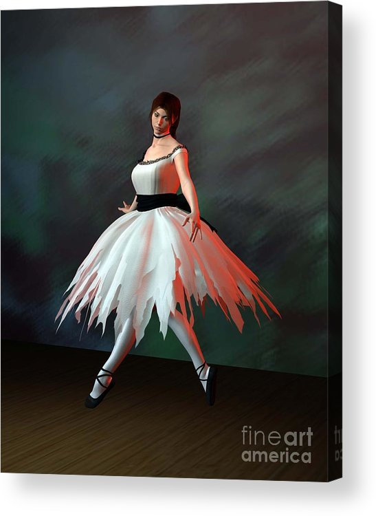 Ballet Acrylic Print featuring the digital art Ballet Dancer by John Junek